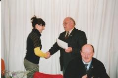 Auszeichnung Alexandra Sprünken 25 Jahre Musikverein 09.03.2008 (3)